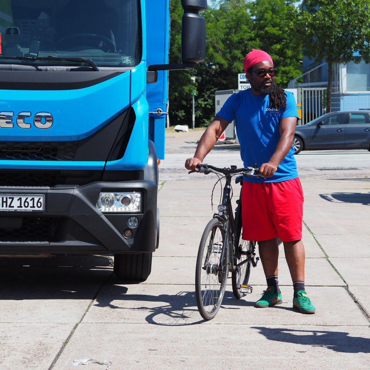 EINMALIGE VERWENDUNG Radfahrer