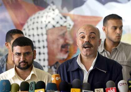 Fatah- und Hamas-Vertreter nach der Einigung: Anschläge auf Israel werden abgelehnt