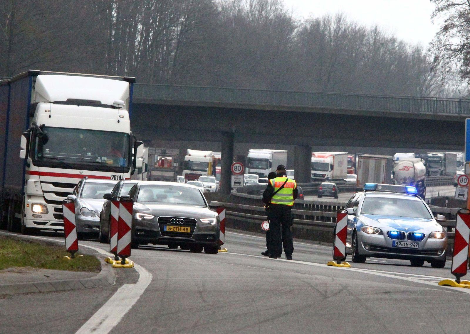 Grenzkontrollen bei Aachen / Brüssel