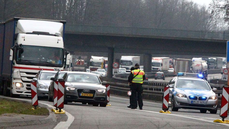 Grenzübergang in Lichtenbusch bei Aachen