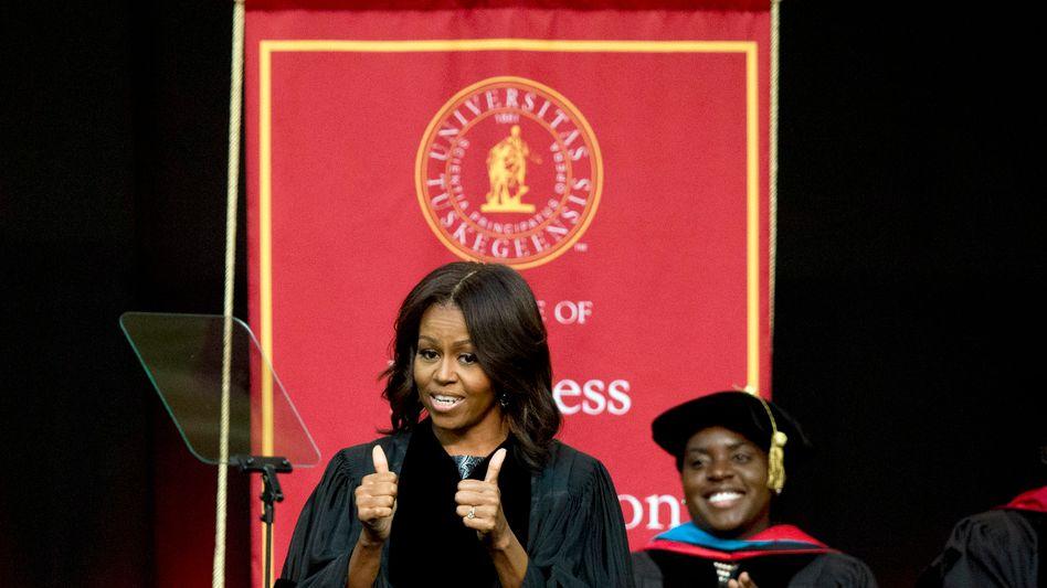 """Michelle Obama an der Tuskegee University: """"Die Leute wechselten die Straßenseite"""""""