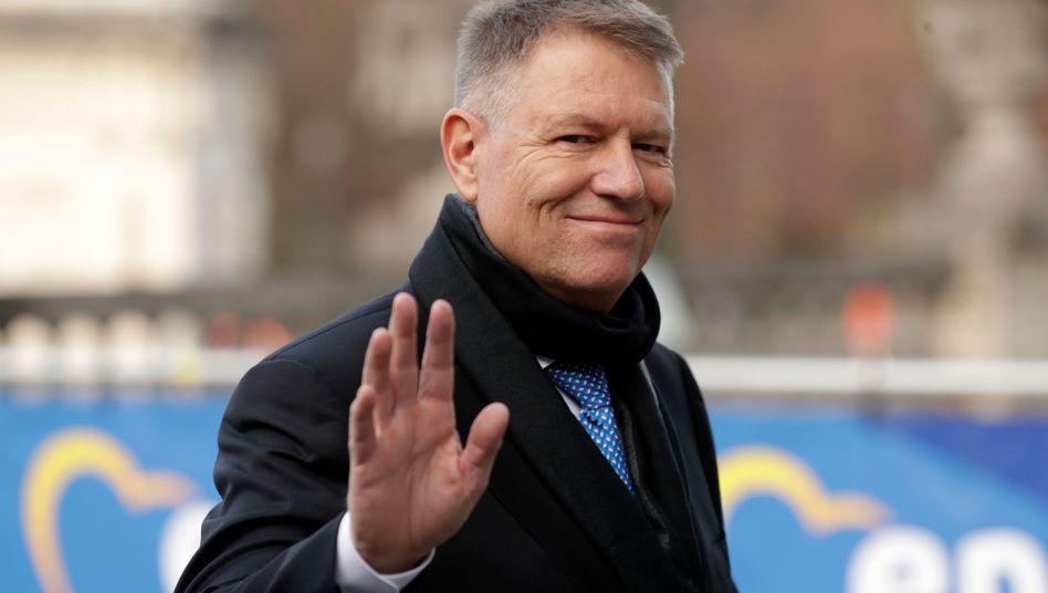Klaus Iohannis' Ankunft beim Treffen der europäischen Volksparteien im Europaparlament in der vergangenen Woche