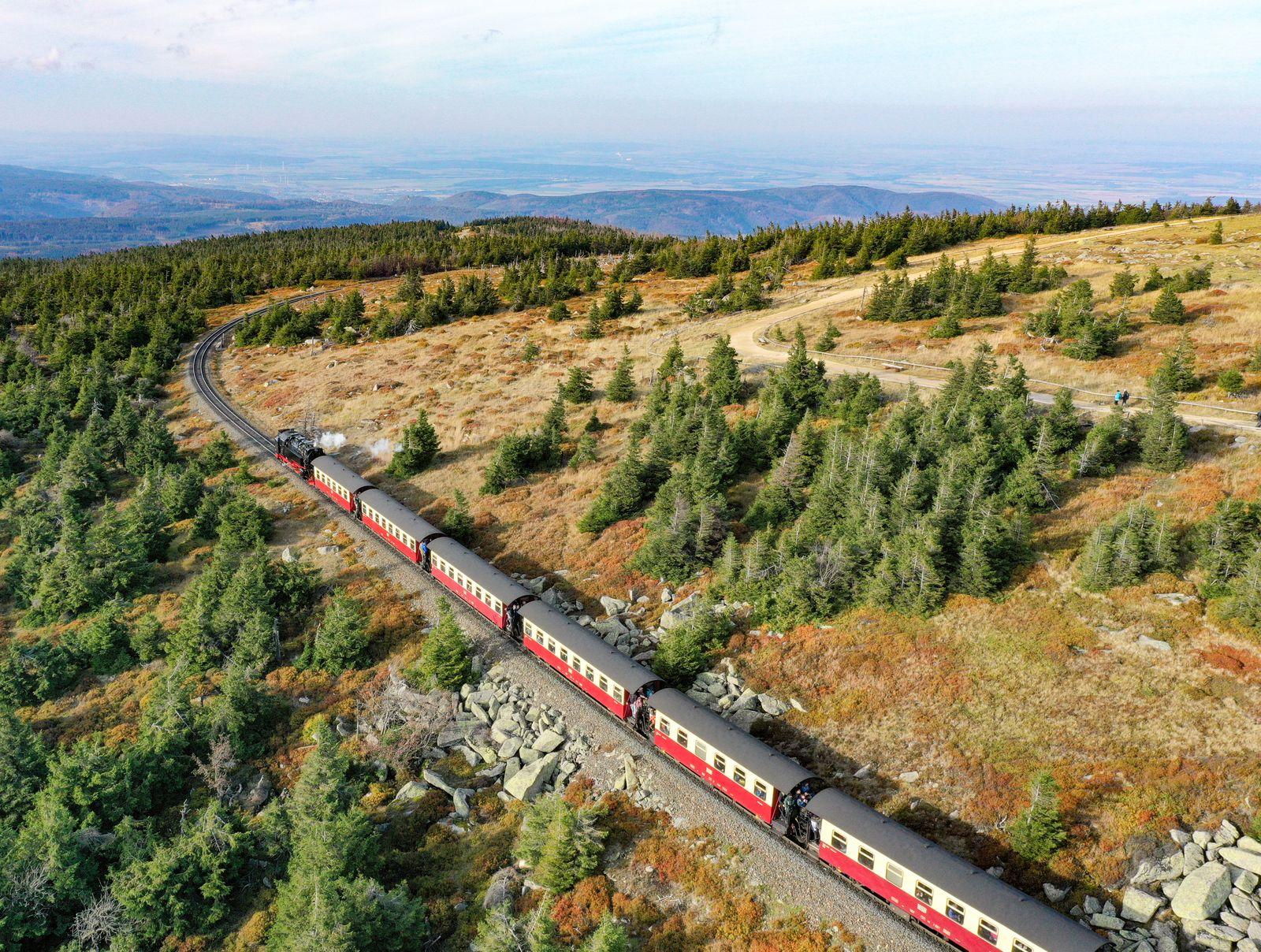 Radweg Deutsche Einheit - Mittelgebirge Harz Brockenbahn