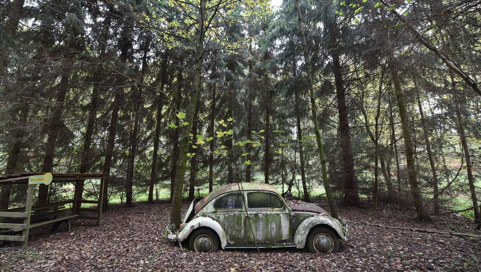 Zum Kunstobjekt umfunktionierter VW-Käfer (Archiv): Welche Folgen hat die Affäre für den Konzern?