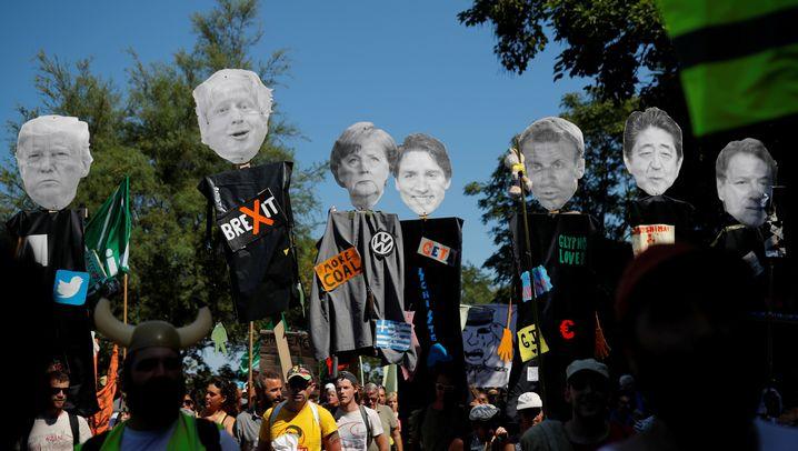 G7-Gipfel in Biarritz: Krisenstimmung und Proteste