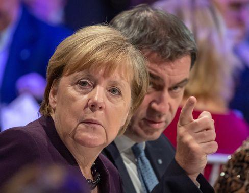 Kanzlerin Merkel, CSU-Chef Söder
