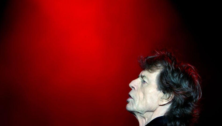 Mick Jagger bei einem Konzert in Nanterre bei Paris