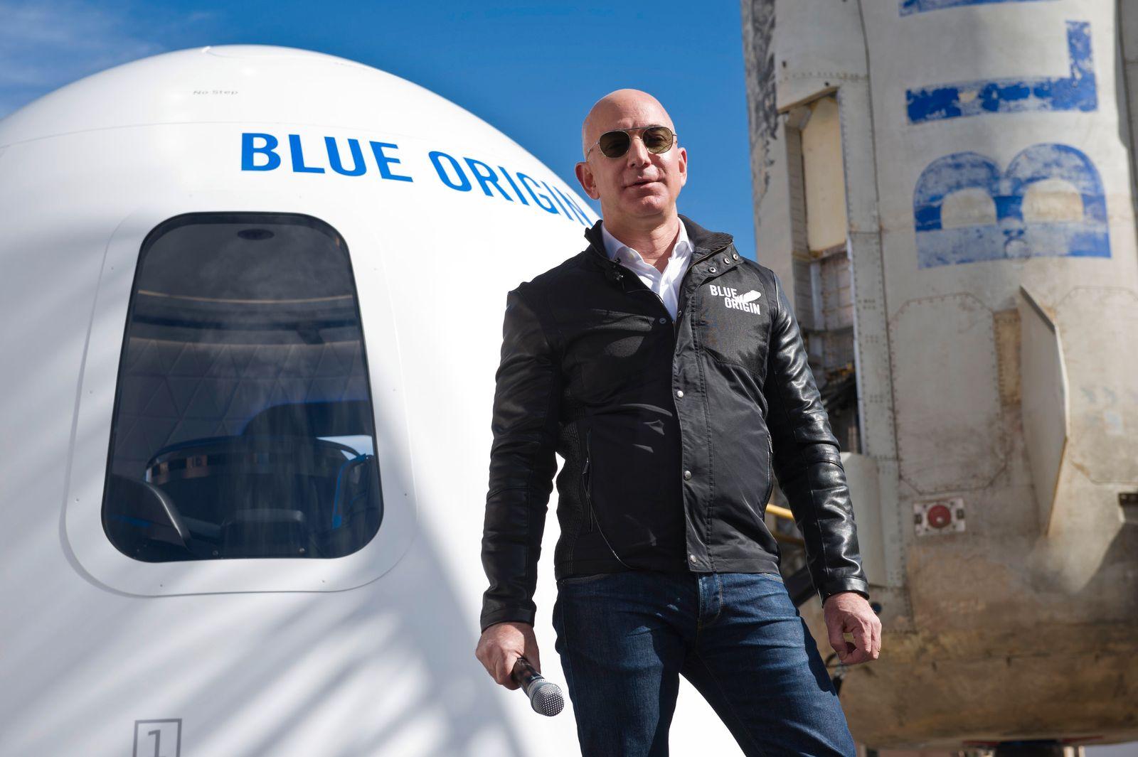 Nach Branson will nun auch Bezos Kurztrip ins All unternehmen