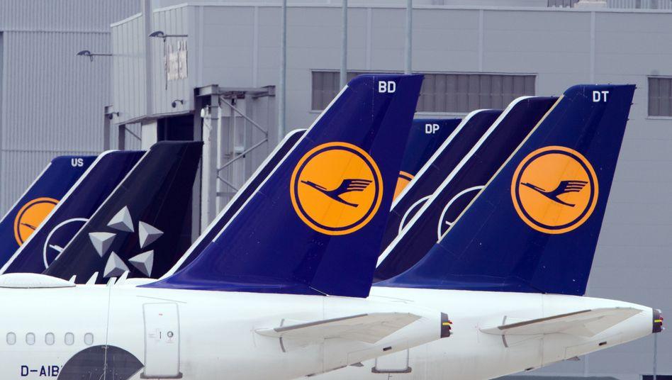 Lufthansa-Maschinen in Berlin: Während der Coronakrise häufig am Boden