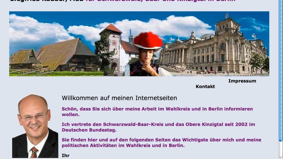 Siegfried Kauders Homepage: Blogger werfen dem CDU-Politiker Bilderklau vor