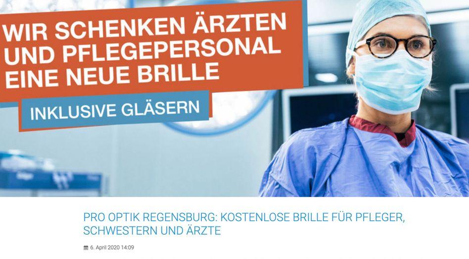 Werbeaktion von Pro Optik