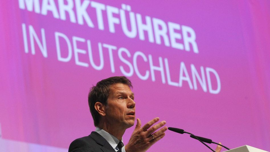 Telekom-Chef René Obermann (am 16. Mai): Zwei-Klassen-Internet geplant