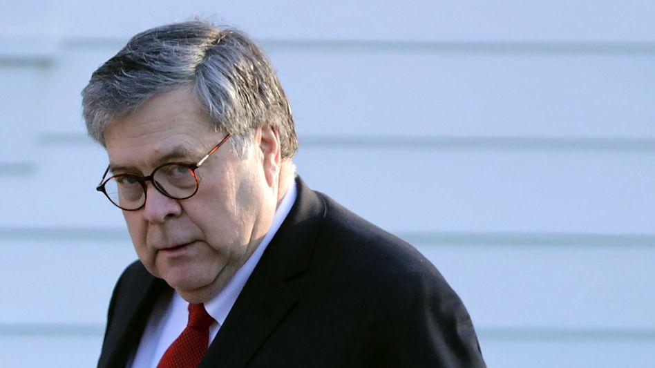 William Barr, Justizminister unter Trump