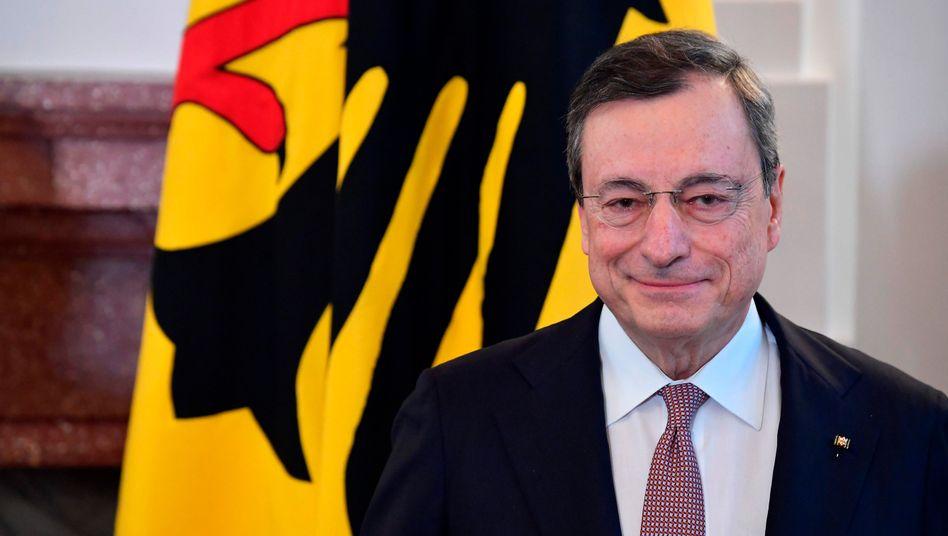 Mario Draghi im Schloss Bellevue
