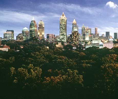 Mächtige Metropole: Atlanta, die Hauptstadt des US-Bundesstaates Georgia, hat sich zum wichtigsten Industrie- und Medienzentrum des amerikanischen Südens entwickelt