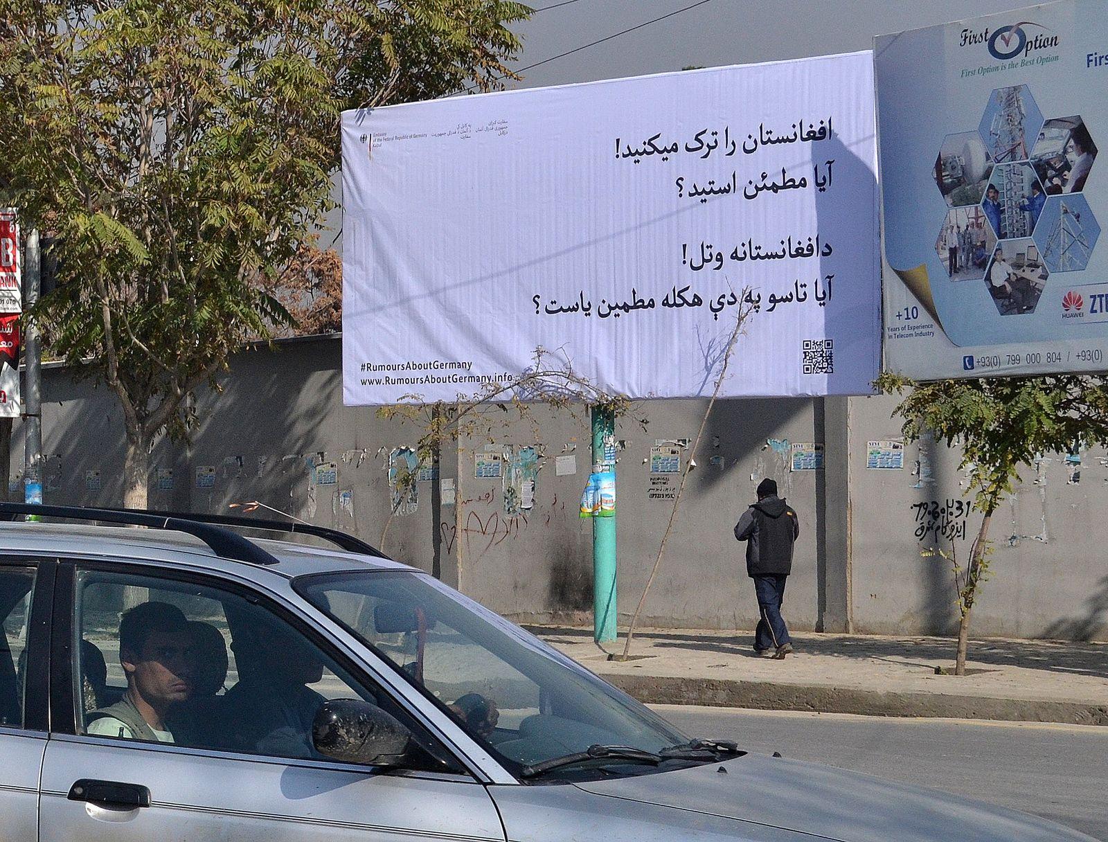 Plakatkampagne in Afghanistan