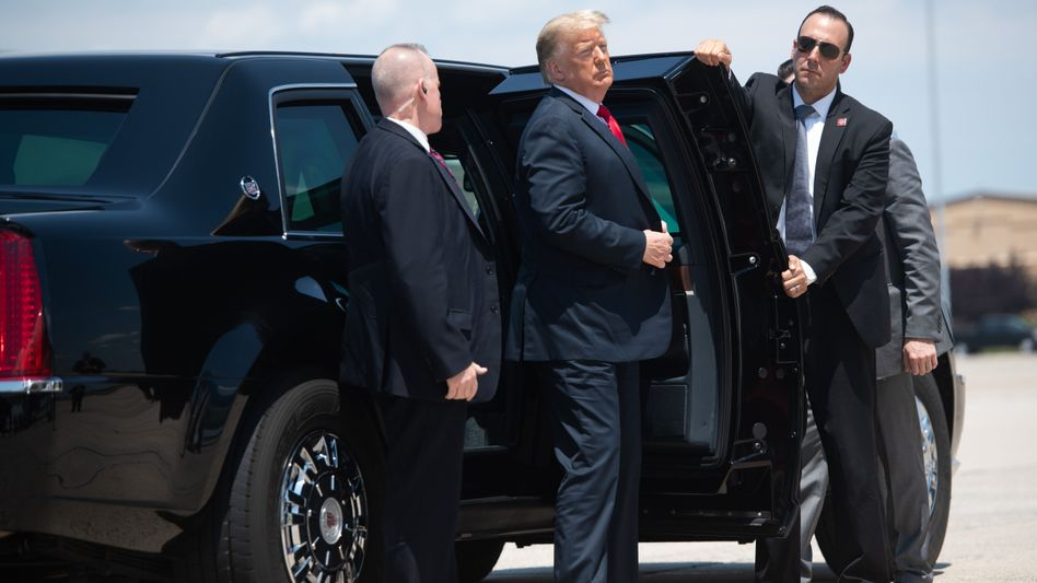 Rollt mit Goodyear: Donald Trumps Limousine