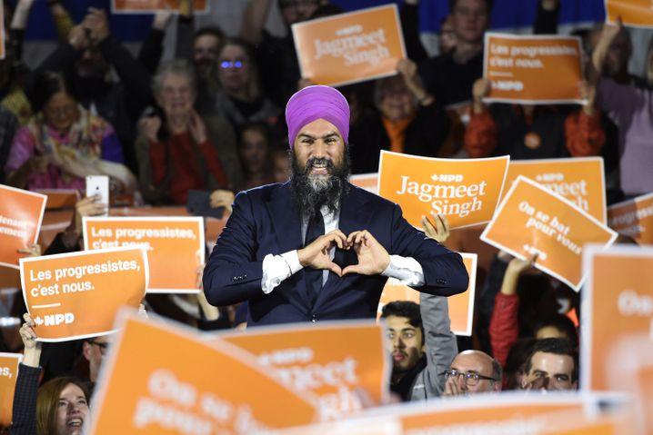 NDP-Chef Jagmeet Singh: Charismatiker links von Trudeau