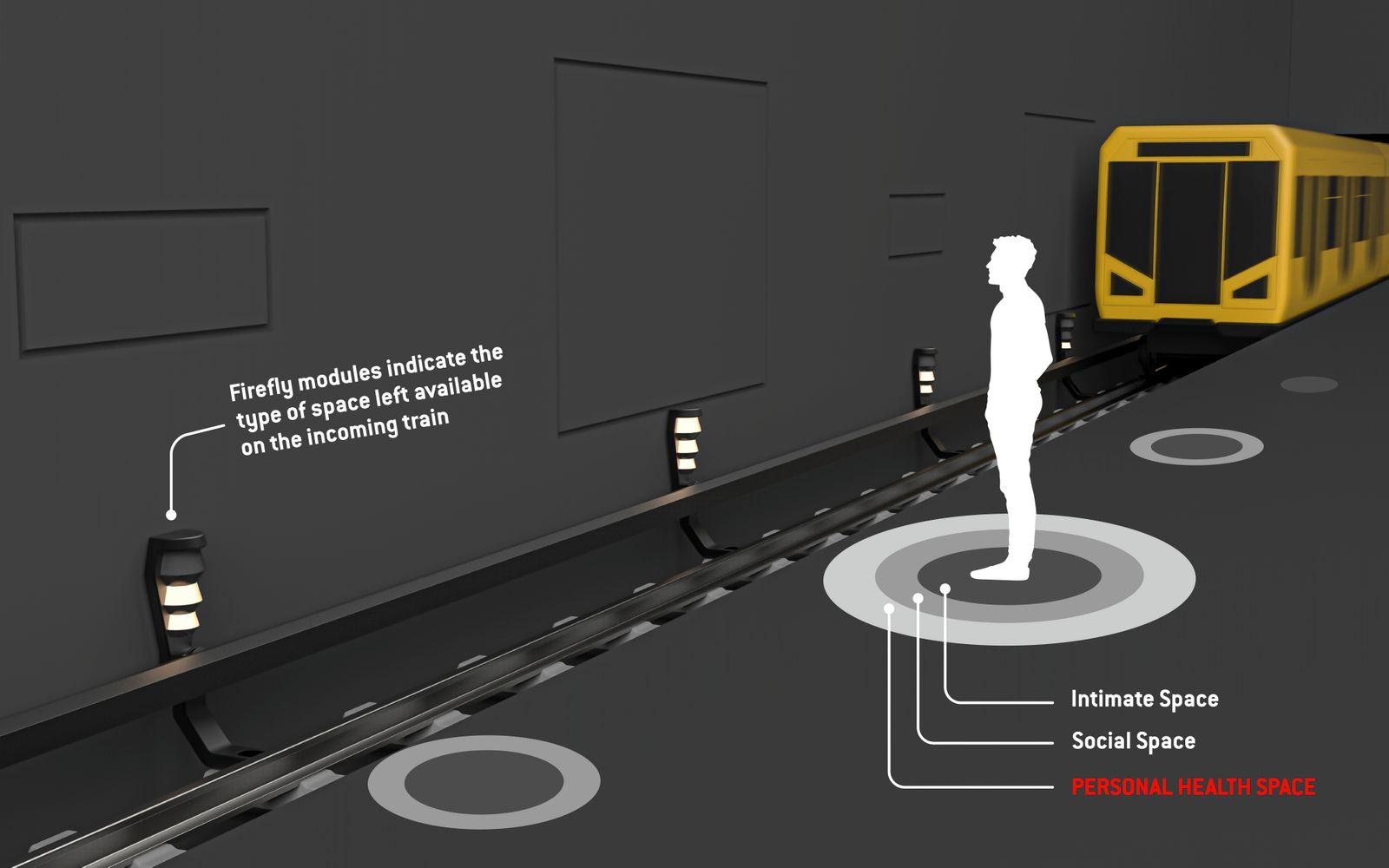 Projekt Firefly für mehr Abstand im ÖPNV
