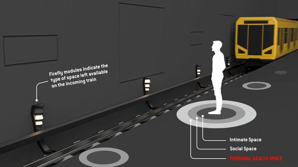 Wo ist noch Platz? Über Lichter soll die Auslastung der U-Bahn-Wagen angezeigt werden.
