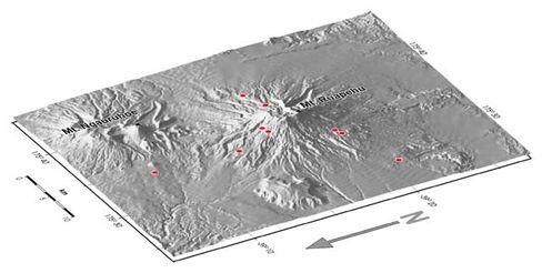 Seismografen am Mount Ruapehu: Mit Schockwellen ferner Erdbeben durchleuchtet
