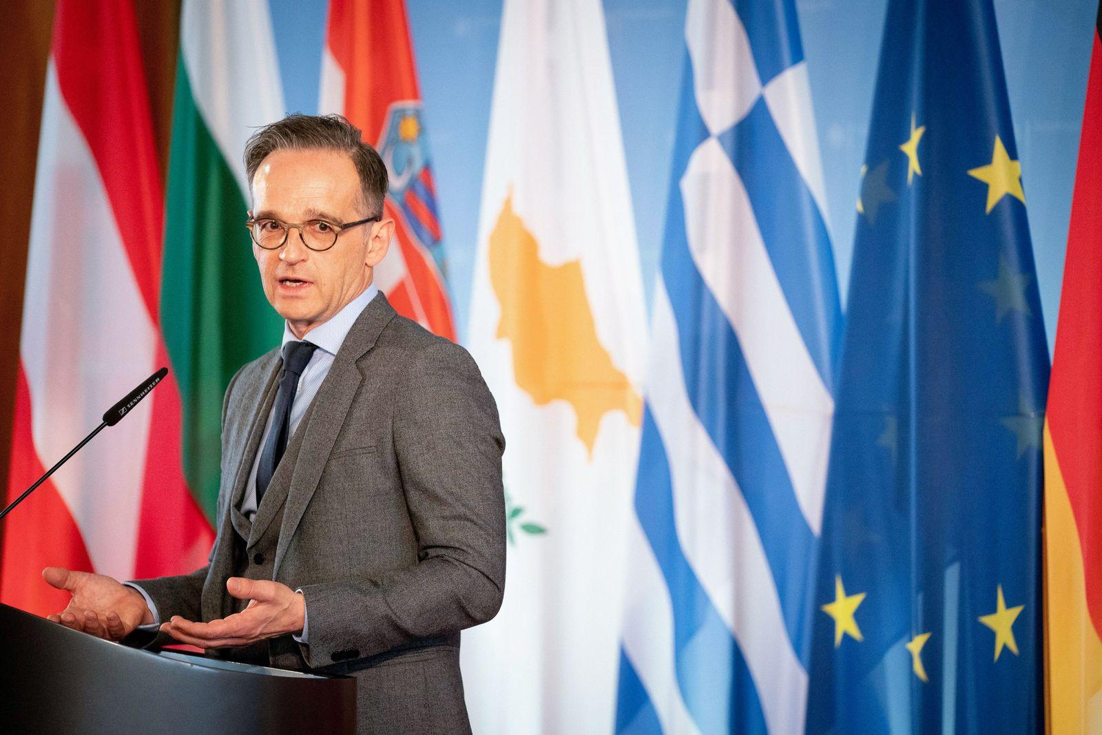 Pressekonferenz von Außenminister Maas und