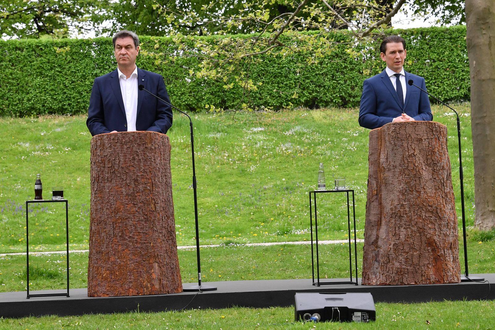 Dr. Markus Söder (Bayerischer Minsiterpräsident) und Sebastian Kurz (Österreichs Bundeskanzler) / Ministerpräsident Dr.
