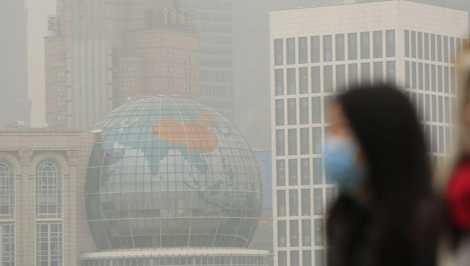 Shanghai, Ende Januar 2015: Knapp 90 Prozent der wichtigen Städte in China belastet