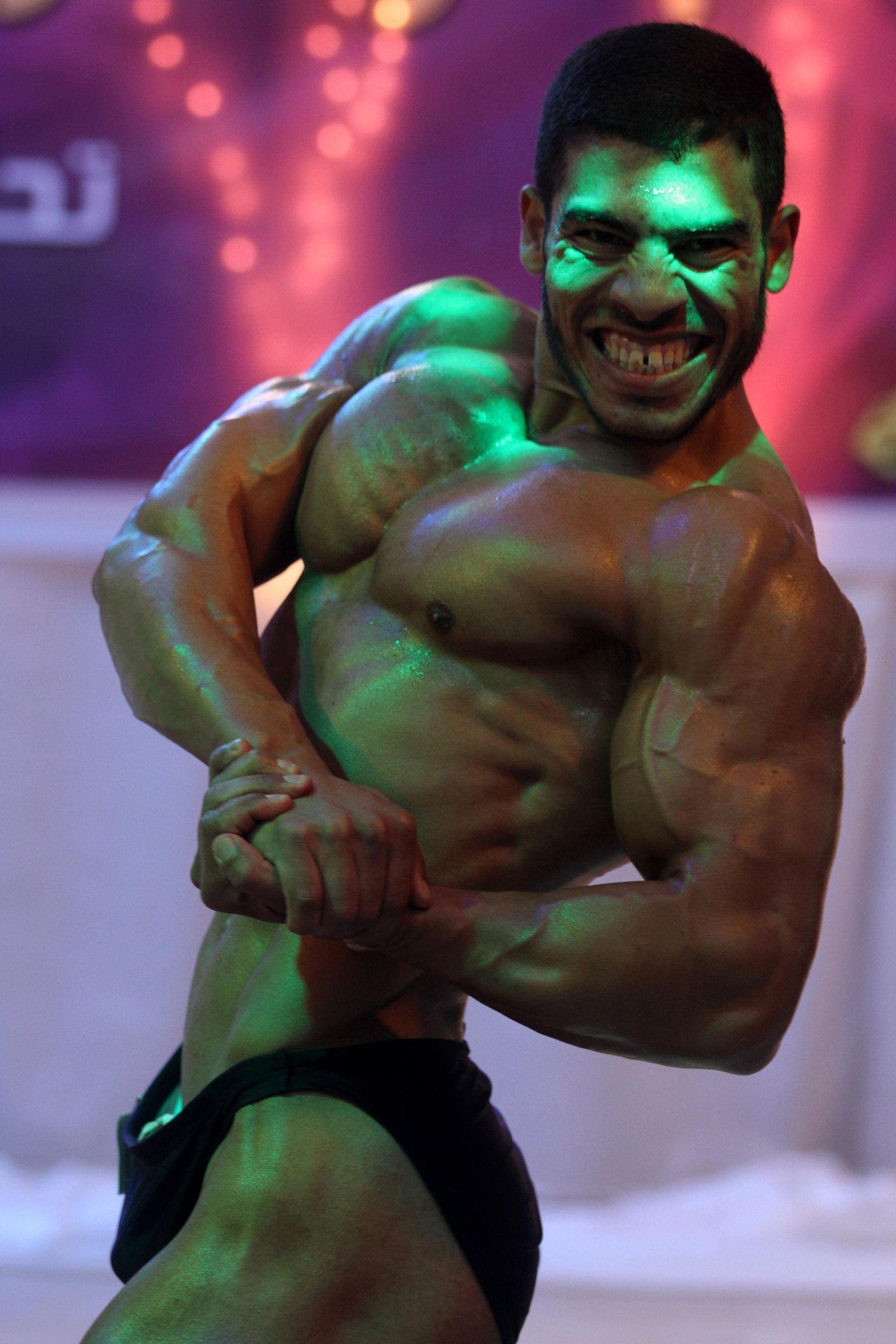 EINMALIGE VERWENDUNG Bodybuilder / Testosteron