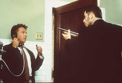 """Polit-Farce """"Mad City"""", Darsteller Hoffman, Travolta: Zwiesprache thematisiert"""