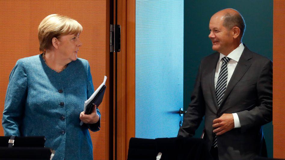 Kanzlerin Merkel, Vizekanzler Scholz