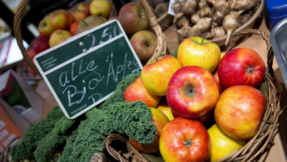 Bioäpfel auf der Grünen Woche (Archiv)