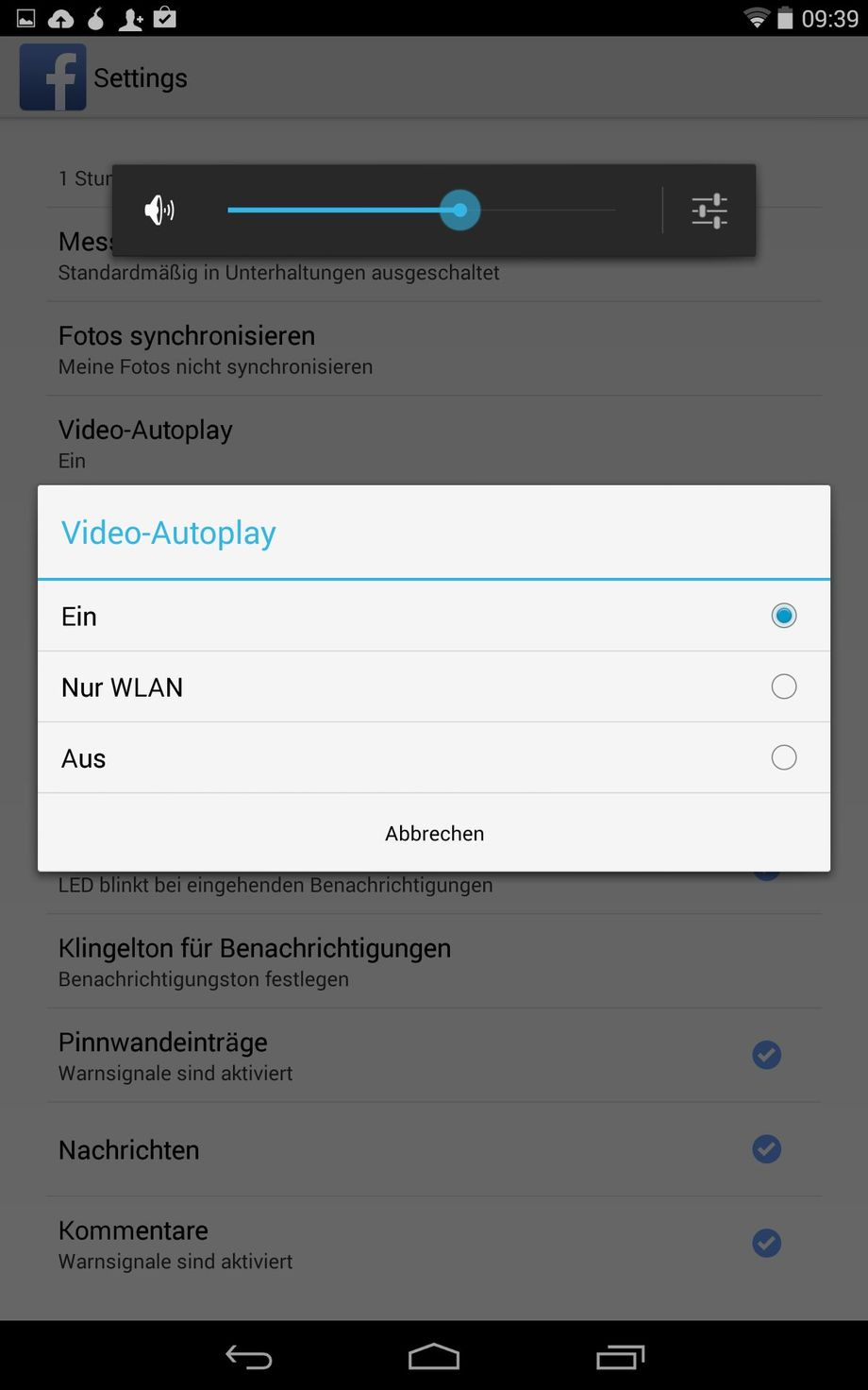 Facebook Autoplay Deaktivieren Android