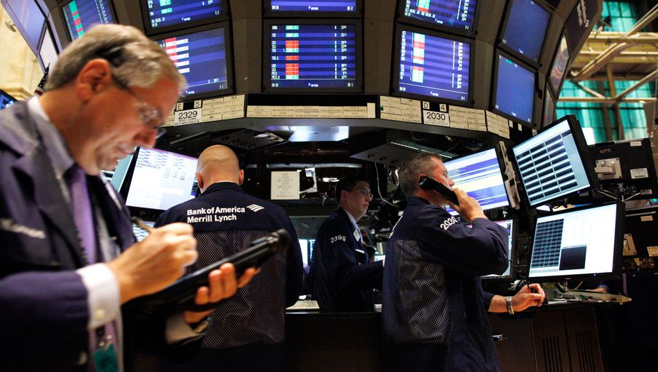 On the floor of the New York Stock Exchange, where halting negotiations over Greece have strained business.