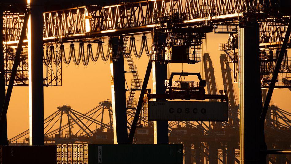 Handelsknotenpunkt Hamburger Hafen