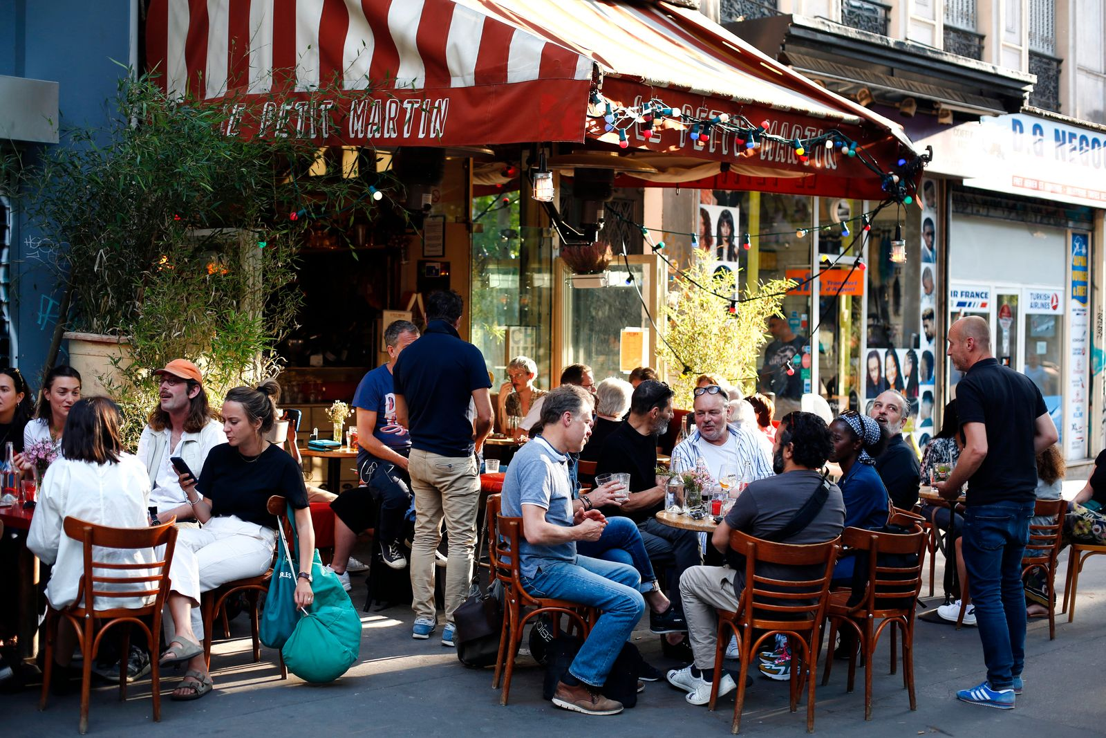 Virus Outbreak Paris Cafes Photo Gallery