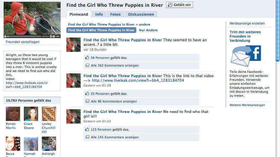Hundequälerin: Auf Facebook wird die Unbekannte an den Pranger gestellt
