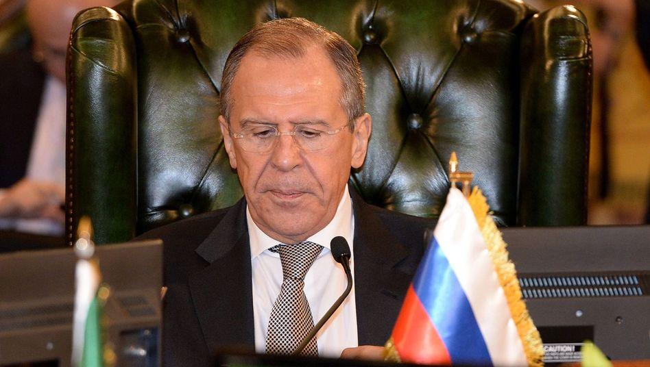 Russischer Außenminister Lawrow: Verspricht Rückzug der Truppen von der ukrainischen Grenze