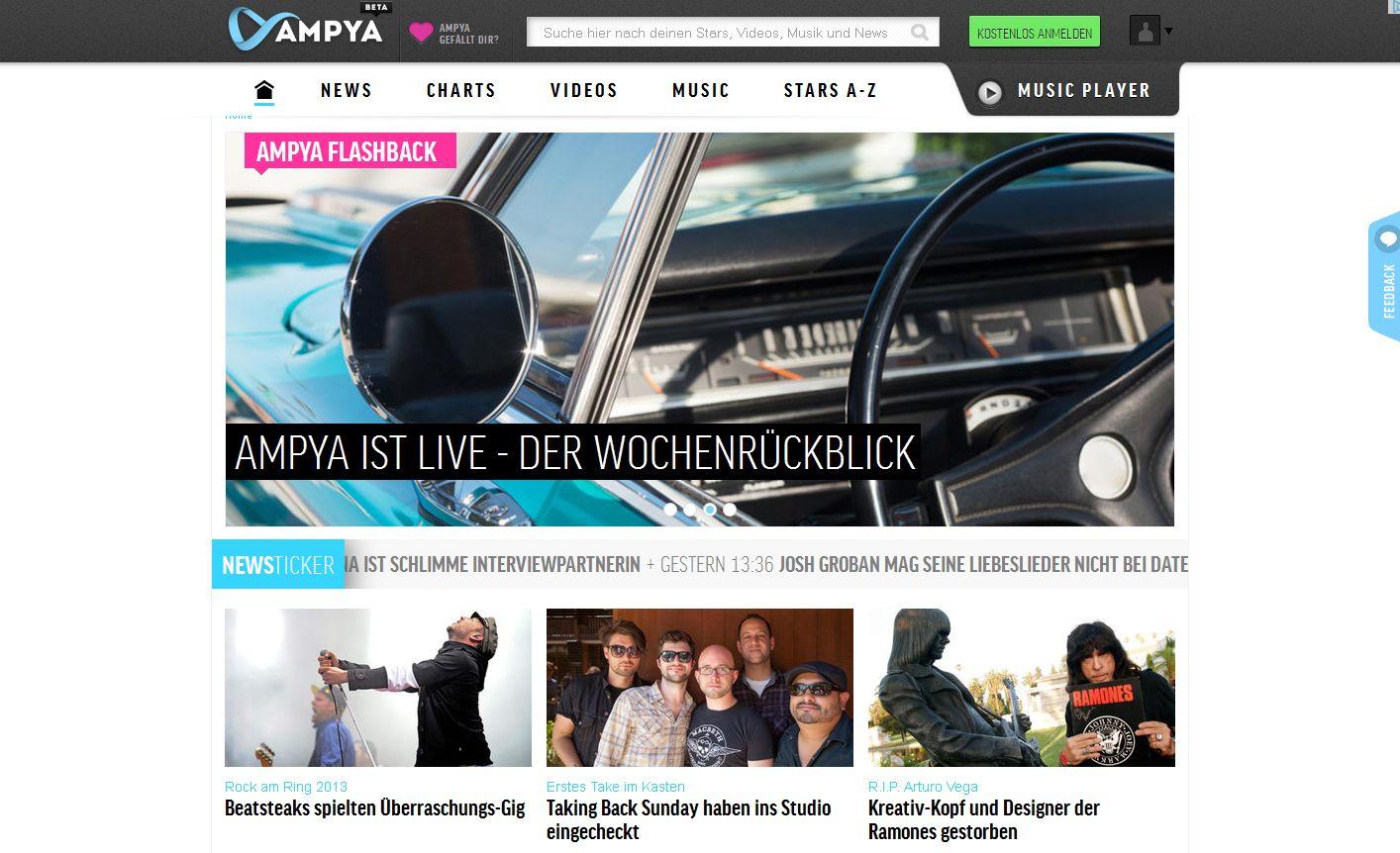 Musikservice Ampya von ProSiebenSat.1 geht an den Start