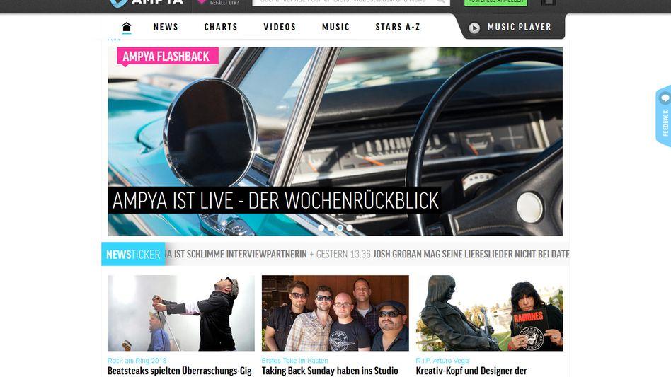 "Musik-Streaming-Dienst Ampya (Screenshot): ""Spotify die Stirn bieten"""