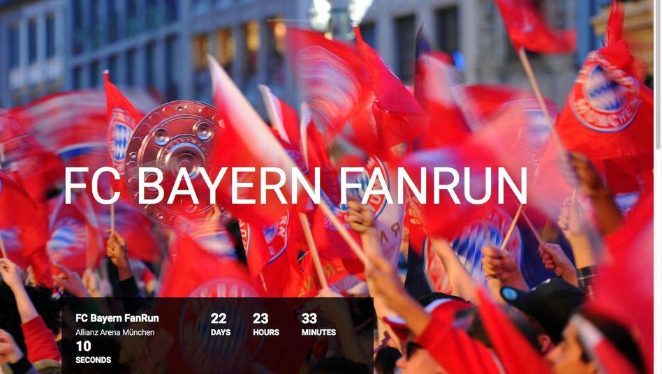 """Screenshot des """"FC Bayern FanRun"""": Ein Jahr """"Bild"""" obendrauf"""