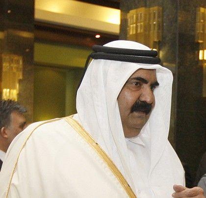 Sheikh Hamad bin Khalifa al Thani, the emir of Qatar.