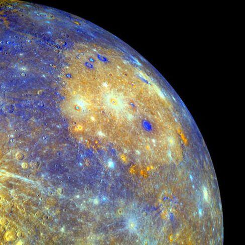 Merkur: Vulkane formten seine Oberfläche mit