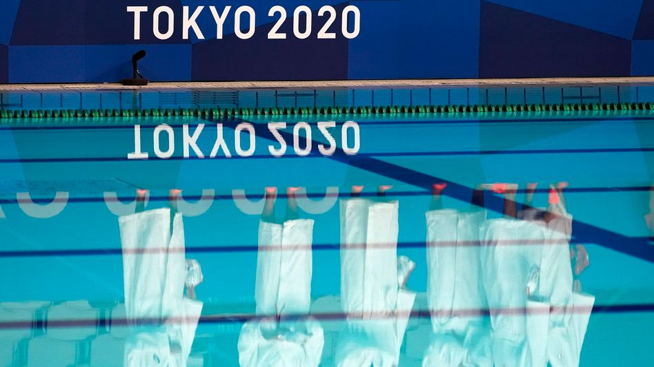 Die Schwimm-Arena in Tokio: Henning Mühlleitner sorgte für Aufsehen
