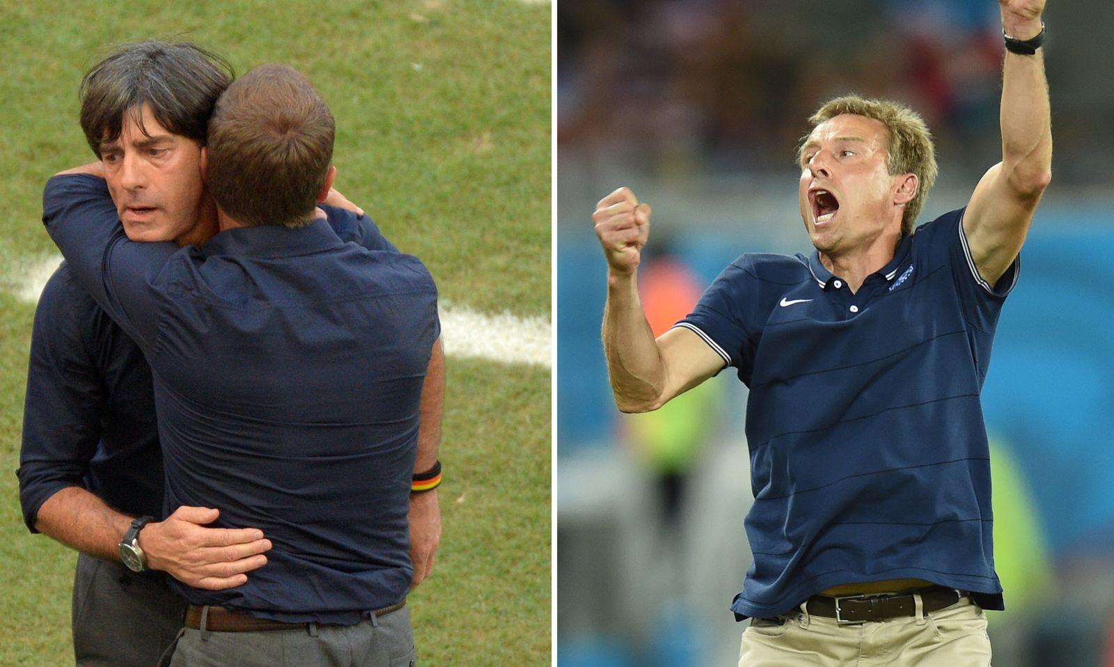 EINMALIGE VERWENDUNG Klinsmann/ Löw/ Jubel