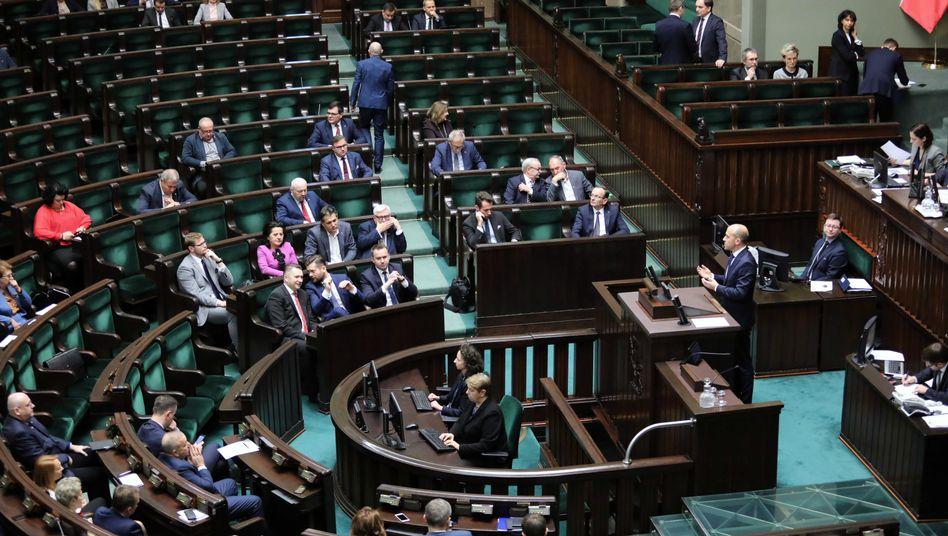 Das Parlament, der Sejm, in Warschau