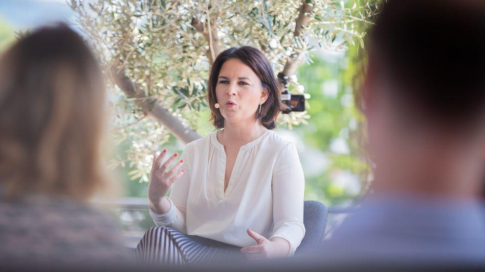 Annalena Baerbock bei der Buchpräsentation (Archiv): »Keine Doktorarbeit«