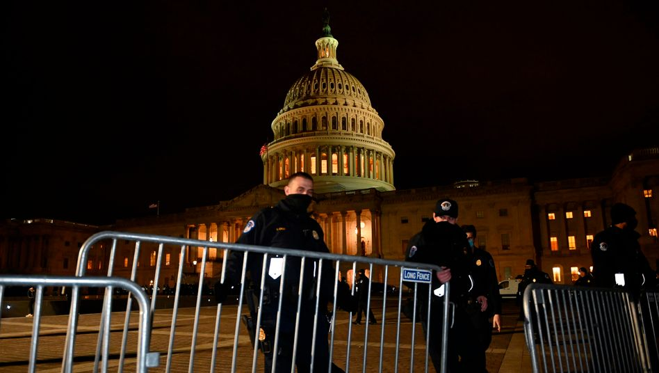 Das US-Kapitol wurde am Abend abgesperrt