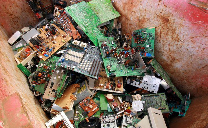 Leiterplatten aus Computern: Ohne Recycling verlassen Rohstoffe den Kreislauf