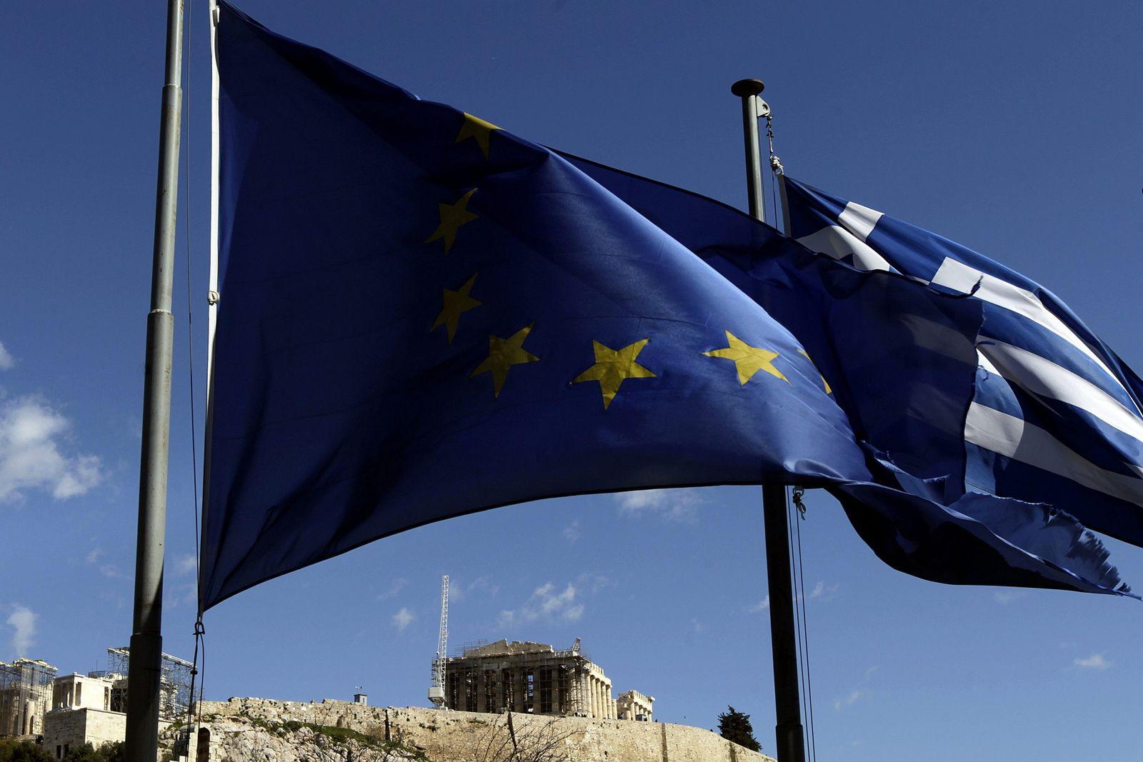 Athen Griechenland Flaggen Europa